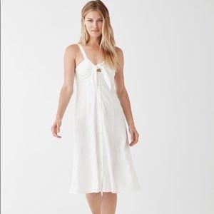 Splendid white midi dress